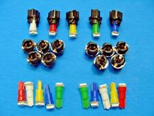 "15 Assorted Lights Bulbs LEDs 3/8"" Sockets Instrument Panel Cluster Dash Imports"