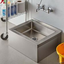 Compartment Floor Mop Sink 25 Stainless Steel Nsf One 20 X 16 X 6 Bowl