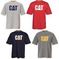 CAT Caterpillar Trademark Logo T-Shirt Durable Work Mens Tee