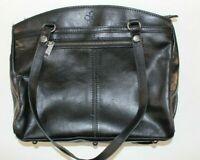 ✔ Patricia Nash Poppy Tote Black Leather Heritage Satchel, Retail $199 ✔