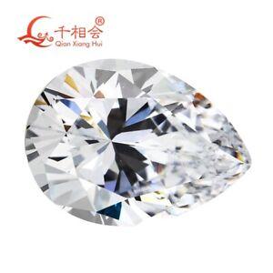 6A Pear shape Brilliant Cut White DE color Cubic Zirconia stone