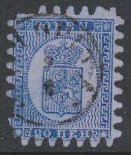 Finland - 1866, 20p Bright Blue/Blue stamp - Type II - F/U - SG 36