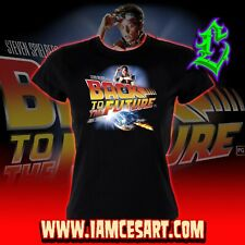 Back to the Future Women's 100% Cotton Tee 1980 80s time Travel movie iamcesar