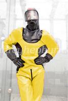 100% Latex Rubber Kostüm Costume Ball Firefighter Catsuit Bodysuit Size XXS-XXL