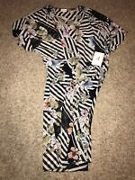 Lularoe New W Tags Black White Floral Shirley Cover Up
