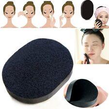 Soft Bamboo Charcoal Sponge Facial Puff Deep Cleaning Exfoliator Makeup Tools