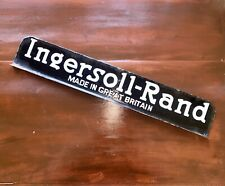 More details for ingersoll-rand double sided enamel sign