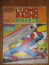 Italian ed L'UOMO RAGNO - SPIDER MAN Marvel Corno RACCOLTA SUPEREROI GIGANTE # 1