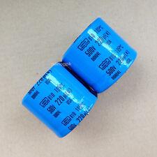 1lot/2PCS NCC UCC 81D 220uF 500V 105c blue High Voltage Electrolytic Capacitors