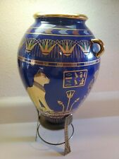 The Golden Vase of Bast Franklin Mint Vase Cat 24 k Gold Egyptian