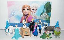 Disney Frozen Toy Figure Set of 12 - Sled, Trolls Etc Bonus Tattoo US Seller