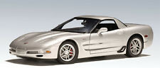 2001 CHEVROLET CORVETTE Z06  AUTOart 1/18 SILVER NEW IN BOX SPECIAL SALE AUCTION