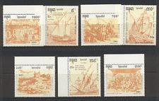 Camboya 1991 Columbus/barcos/barcos/explore 8 V Set s4322