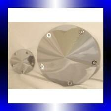 DERBY & CAM COVERS BILLET SPIKE STYLE HARLEY CHOPPER 5 HOLE TWIN CAM