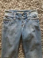"Womens GAP CURVY LOW RISE Boot Cut 2L Light wash Jeans 34.5""  long Inseam"