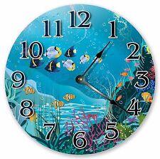 "10.5"" SEA CREATURES LIFE CLOCK Large 10.5"" Wall Clock - Home Décor Clock - 3093"