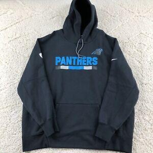 Carolina Panthers Nike NFL Team Issue Hoodie Men's 4XL Black Cotton Blend Fleece