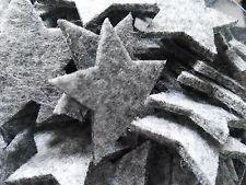 96 x dicke Filz Sterne sortiert Grau Filzsterne Streuen Box Dekoration
