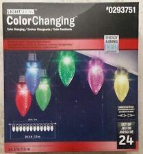 12 Gemmy Lightshow SyncroLights Color-Changing C9 LED Lights -