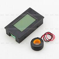 Digital LED AC 100A Volt Amp Watt Power Monitor Ammeter Voltmeter w/ case + CT