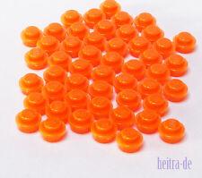 LEGO - 50 x Rundplatte 1x1 transparent neon orange / Plate Round / 4073 NEUWARE