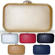 Pochette Elegante Eco Pelle borsa rosso blu argento oro nero beige kaki D0576