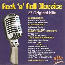 CD ROCK N ROLL CLASSICS 27 ORIGINAL HITS BERRY ELVIS HOLLY VINCENT PLATTERS ETC