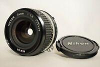 [Excellent++++]Nikon NIKKOR-N Auto 24mm F/2.8 1:2.8 MF Nikon F Mount From Japan