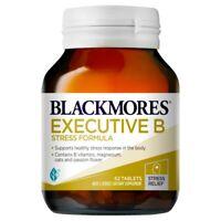 Blackmores Executive B Stress Formula 62 Tablets B Vitamins Energy Levels