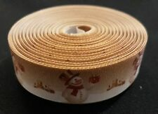 1 Metre Christmas Grosgrain Ribbon 25mm Crafts/Party/Cake/Hair/Bows/Gift