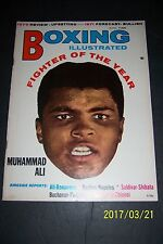 1971 Boxing Illustrated MUHAMMAD ALI Fighter Of Year JOE FRAZIER George FOREMAN
