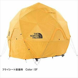THE NORTH FACE Geodome 4 Tent with Footprint NV21800 Saffron Yellow w/Tracking