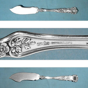 """Gorham Buttercup Sterling Silver Flat Handle Butter Spreader 6 /"""" No Mono"""