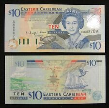 East Eastern Caribbean Antigua Banknote $10 UNC