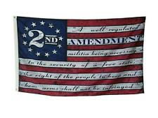 3x5FT 2nd Amendment American USA 13 Star Flag NRA Banner Gun Rights Patriot Ross