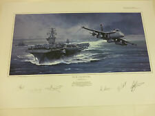 Deck Departure Artist Proof by Robert Bailey USS NIMITZ F-18 Hornet extra print
