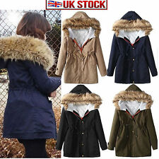 Fur Zip Casual Parkas for Women