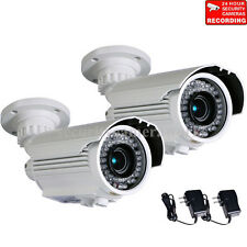 2 Security Camera Outdoor CCTV 700TVL IR Night Vision Video Varifocal CCD btx