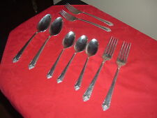 Rogers Reinforced Silver Plate 1953 Starlight Pattern 9 Pieces