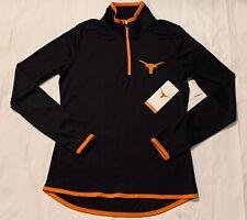 Brand New Texas Longhorns Women's Black Lightweight Pullover Jacket Size XS