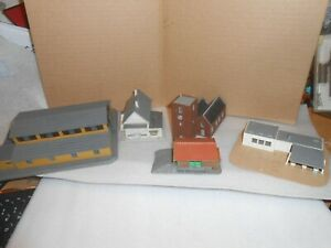 Lot of N Scale Built Buildings for Train Layout