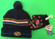 'ABG ACCESSORIES' TODDLER BOY FOOTBALL-THEMED HAT & MITTENS 2-PC SET NWT!!!