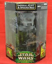 New Sealed ROTJ Star Wars POTJ endor AT-ST & Ewok SPEEDER BIKE Exclusive POTF