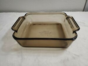 Anchor Ovenware Square Glass Pan Amber 2 QT 8 x 8 x 2.25