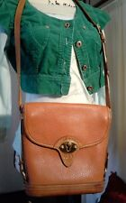 Vintage Dooney & Bourke Crossbody British Tan Leather Bag