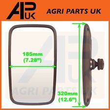 NEW Universal Mirror Head + Glass Tractor Lorry Digger Truck Plant JCB Bus Wing