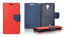 Funda Carcasa Fancy Cartera (Rojo y azul) ~ Apple iPhone 4 / iPhone 4S