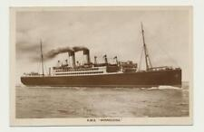 """""""R.M.S. MINNESOTA"""" QUEBEC P.Q 1922 CDS,  POSTCARD 2c RATE TO ONT. (SEE BELOW)"""