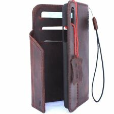 genuine leather Case for apple iphone x wallet handmade cover magnetic luxury