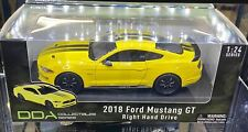 DDA Collectibles 79352y 1/24 Yellow 2018 Ford Mustang GT Right Hand Drive BRAND